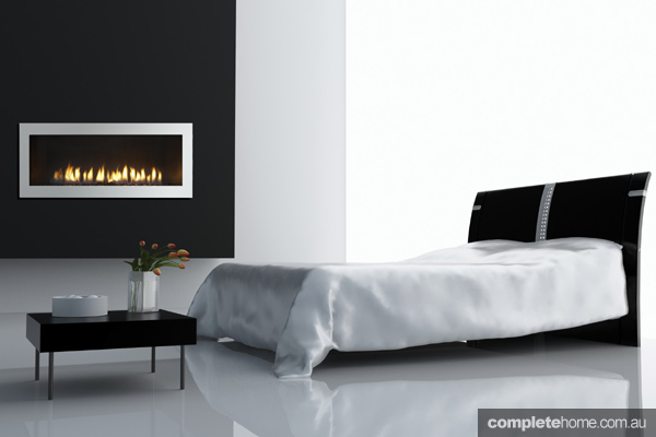 Jetmaster bedroom Fireplace modern flame