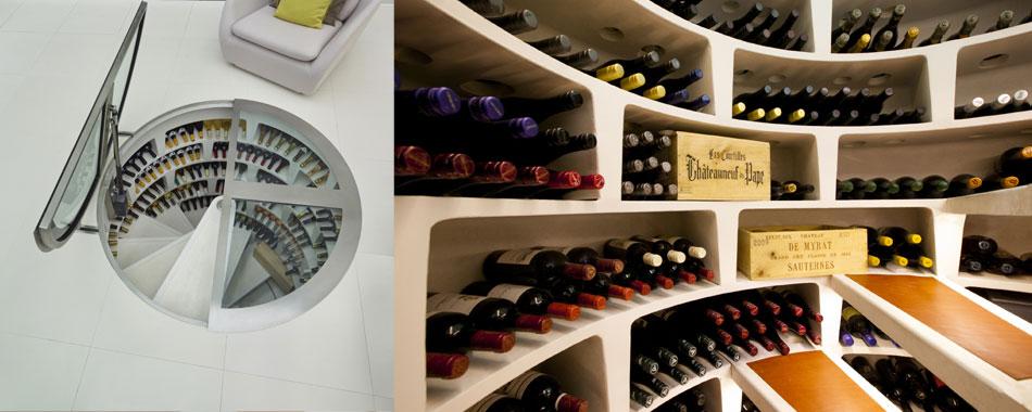 Wine Cellar Through Kitchen Floor