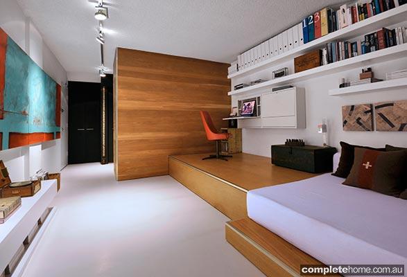 REAL HOME: Super tiny, space-saving studio apartment