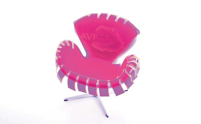 Spread your wings with the swan chair