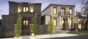 A pair of luxury townhouses
