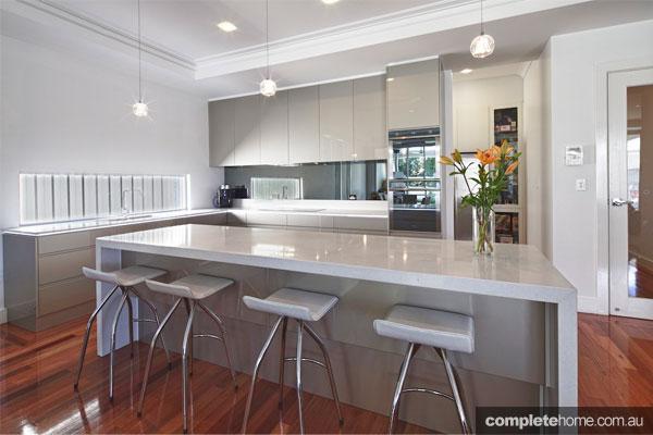 Super Sleek Grey Kitchen Design Complete Home