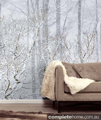 Snow queen style: Snowy forest wallpaper