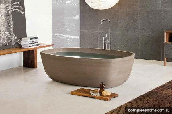 Asian-influenced Inkstone bath by Steve Leung