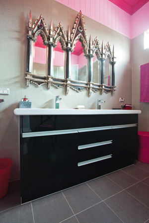 Funky pink bathroom