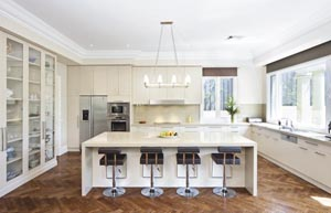 Kitchen with strong lines