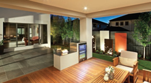 Contemporary chic outdoor design