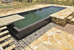 Pool design perfect for a rural landscape