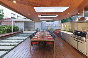 Urban outdoor design oasis