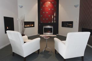 Home heating showroom