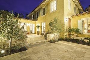 Travertine stone paving idea