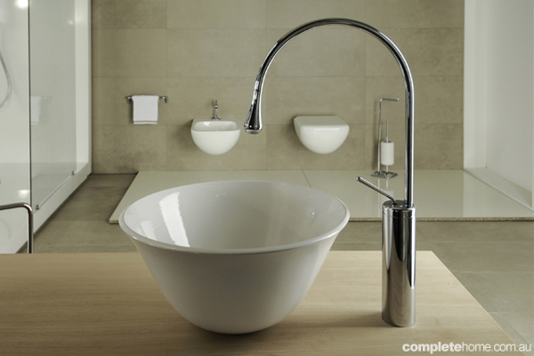 Taps and Sinks from the new Gessi Goccia Bathroom Range