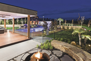 Luxurious outdoor entertaining space