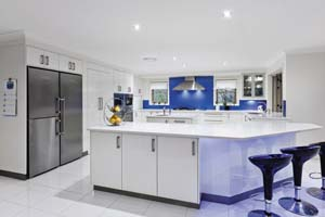 New kitchen accommodates a big family