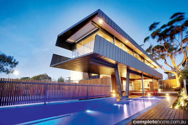Real home modern home design with a mid century twist for Modern home decor au