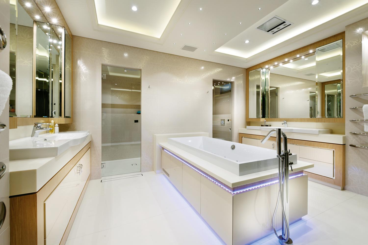 a sophisticated  luxury bathroom design