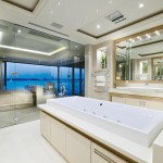A sophisticated, luxury bathroom design