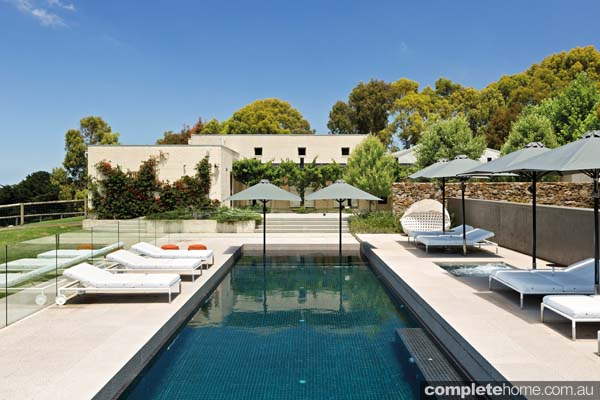 Contemporary Resort style Pool In Rural Mornington
