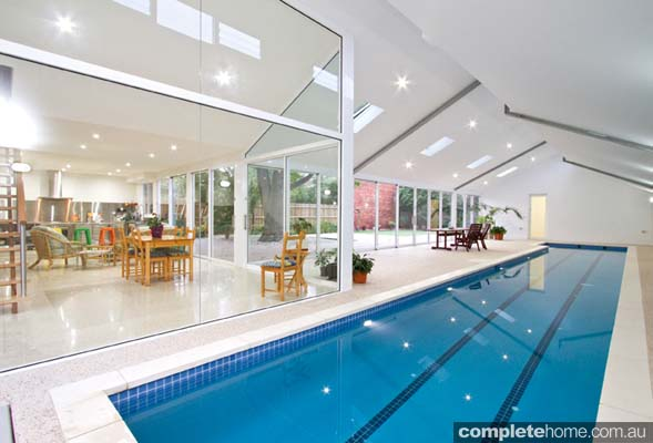 Modern Indoor Lap Pool With A Minimalistic Design