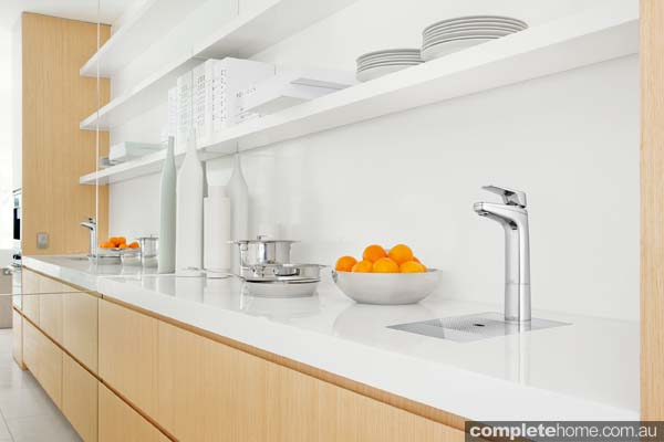 A modern kitchen outfitted with a Billi tap
