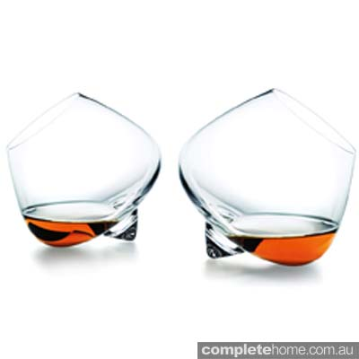 Minimal cool cognac glasses