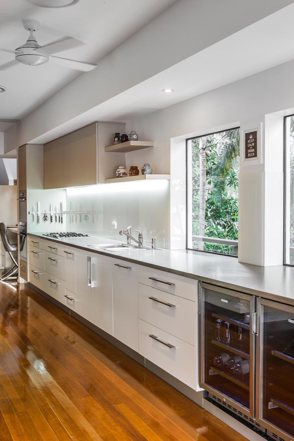 Functionality meets designer appeal in this contemporary kitchen