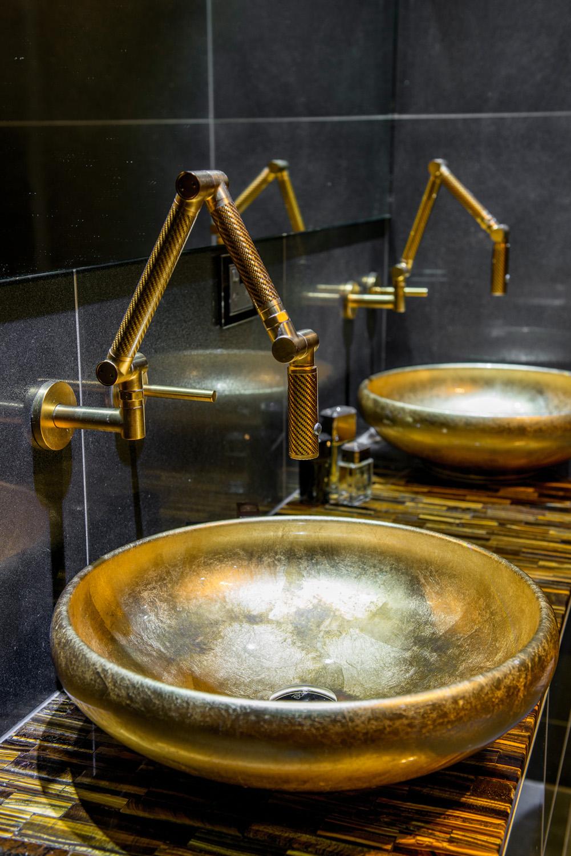 Black and gold luxury bathroom