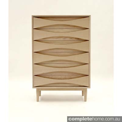 Minimal cool oak tallboy