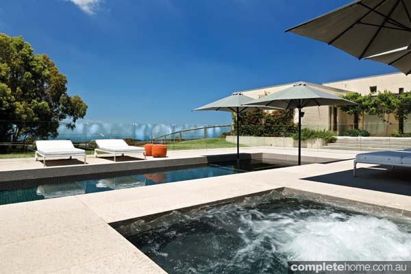 A resort-style pool and spa by Aquarius Swimming Pools