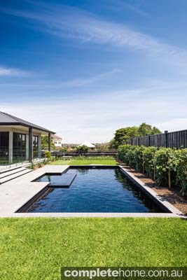 Outdoor pool - contemporary design