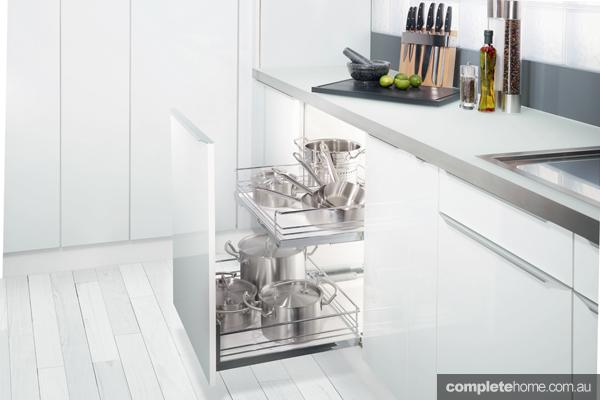 HafeleKitchen Base Cabinet storage for pots