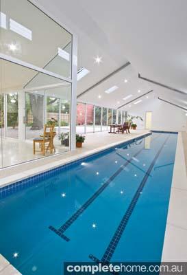 Indoor lap pool - minimalistic design