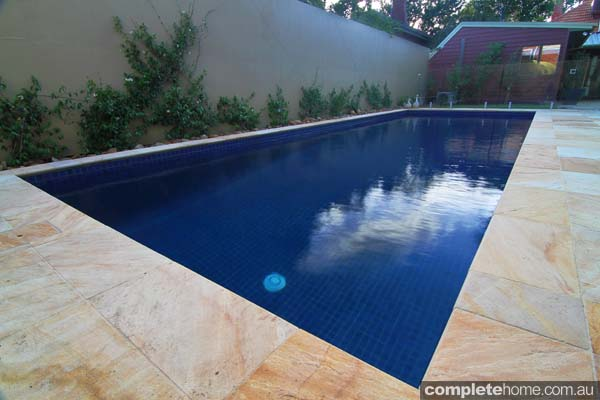 Simple inground pool design - light sandstone