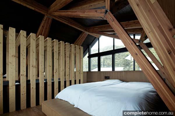 Modern japanese bedroom - timber