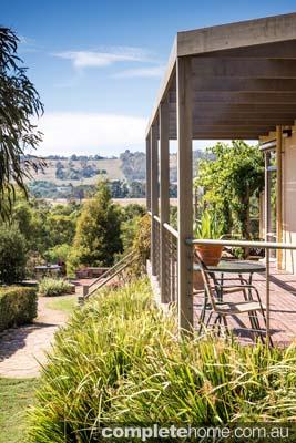 Native Australian outdoor garden design with a view