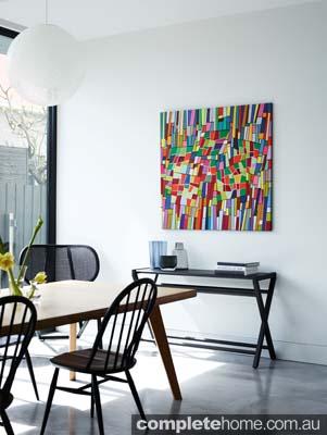 Bold artwork - modern edwardian home