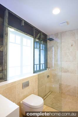 A shower featuring frameless glass - Euroglass