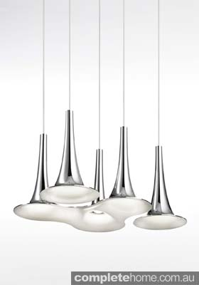 Minimal cool chrome pendant lighting
