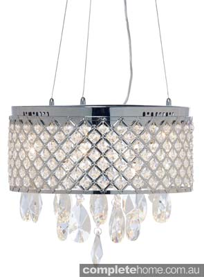 Art Deco light with crystals