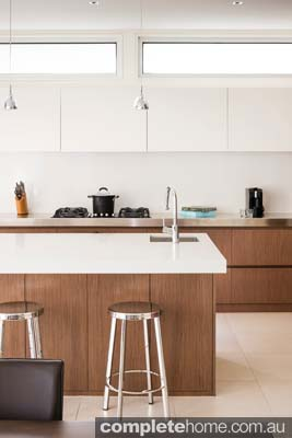 Kitchen granite/marble benchtops are simple yet excitingly modern