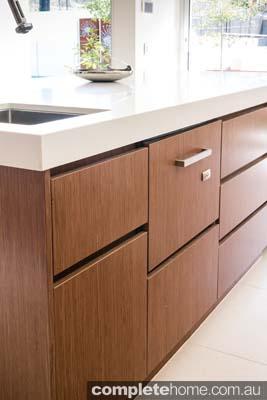 Sharp brown kitchen colour scheme