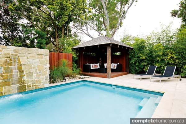 Tropical pool and gazebo by Neptune Pools