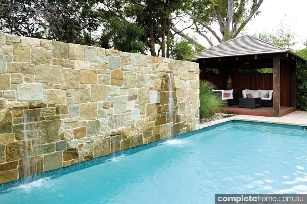 Unique tropical pool and backyard design by Neptune Pools