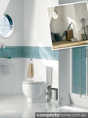 Simple bathroom designs showcase a modernity through colour schemes and comfortability from Saniflo