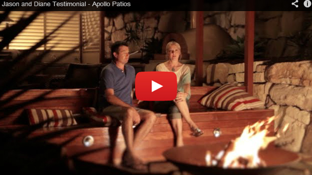 Customer testimonial for Apollo Patios