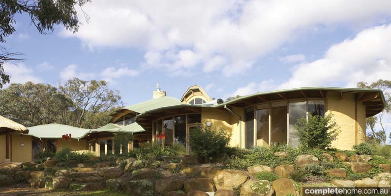 Green living - a mud brick home