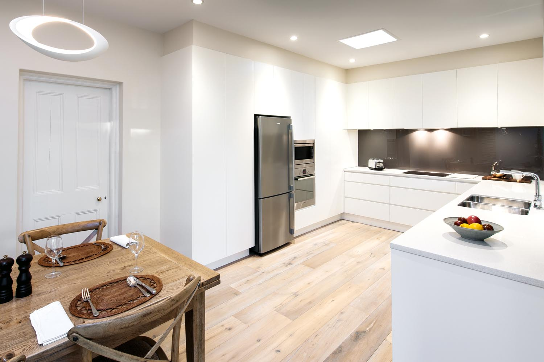 A clutter free minimalist kitchen design