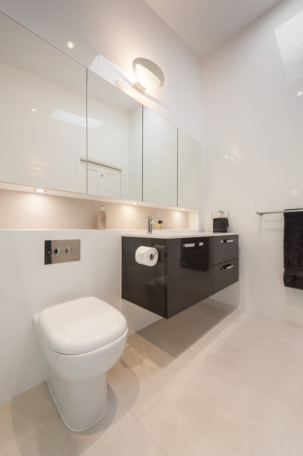 light, minimalist and contemporary bathroom design - completehome
