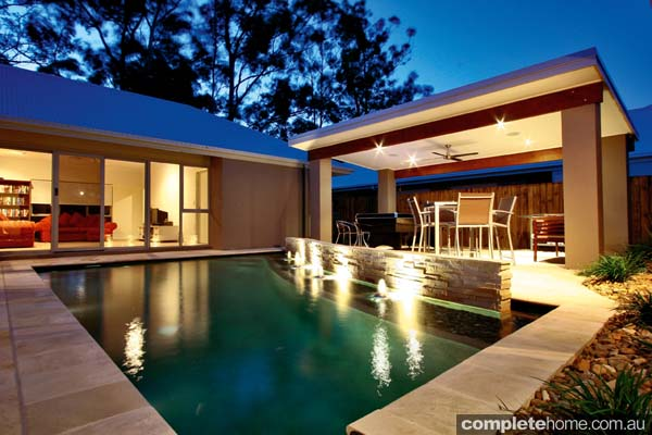 Real pool award winning courtyard pool completehome for Pool design awards