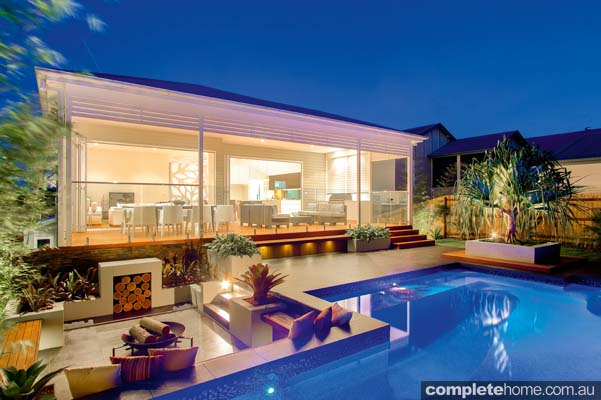 Beautiful Pool And Entertaining Alfresco Design Completehome